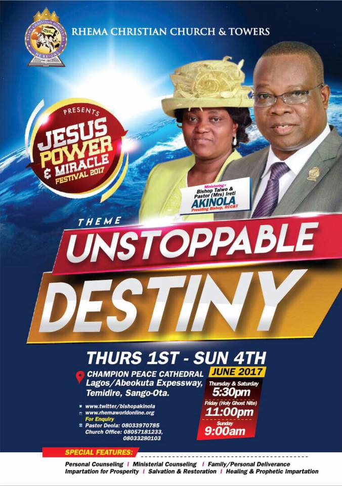 Rhema Christian Church & Tower » you will not suffer or be