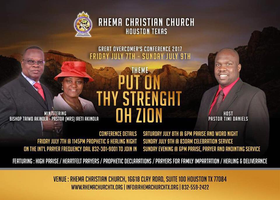 Rhema Christian Church & Tower » you will not suffer or be allowed