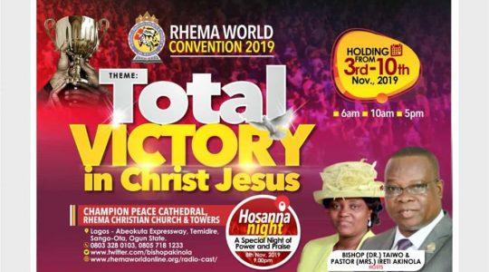 RHEMA WORLD Convention 2019